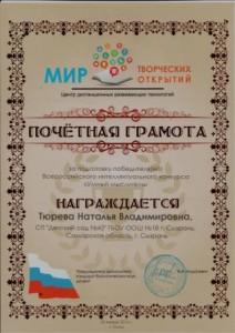 сертификаты Умный мыслитель0006